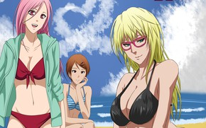 Picture beach, girls, Kuroko's Basketball, Kuroko from the Baske