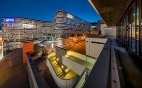 Picture Germany, architecture, Blue Hour, Stuttgart, Stuttgart, Z-UP