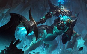 Picture The game, Fantasy, Art, Art, Game, League of Legends, LoL, Character, Character, Hecarim, Yuanbin Hu, …