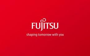 Picture red, background, red, fon, fujitsu, futjitsu, lolgo