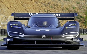 Picture Volkswagen, racing car, front view, 2018, Pikes Peak, ID R
