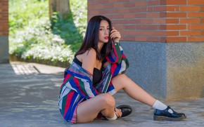 Picture look, hair, legs, Asian, sitting