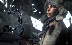 Picture Cuts, Arrows, Tomb Raider, Bow, Face, Quiver, Rise of the Tomb Raider, Square Enix, Lara ...