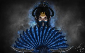 Picture Mortal Kombat, Kitana, Illustration, Fanart, Game Art, Kitana Fanart, Royal Assassin, Thaísa Hassegawa, by Thaísa ...