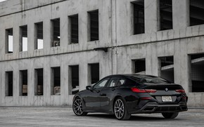 Picture black, coupe, BMW, Gran Coupe, side, 2020, 8-Series, 2019, the four-door coupe, M850i xDrive, Eight, …