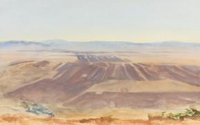 Picture landscape, picture, John Singer Sargent, John Singer Sargent, The Plains Of Nazareth