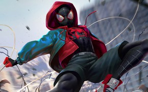 Picture costume, AIR, spider-man, spider man, teen, Miles Morales, Miles Morales, into the spider verse