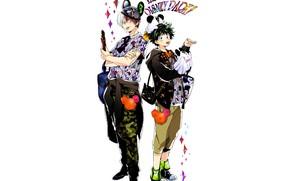 Picture style, guys, Boku no Hero Academy, My Hero Academia, Midori Isuku, Todoroki Shoto, My heroic …