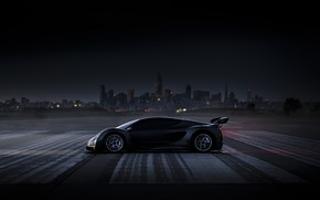 Picture twilight, side view, hypercar, 2020, Czinger, 21C
