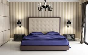 Picture design, bed, bedroom