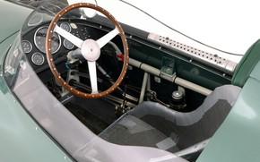 Picture Aston Martin, Speedometer, The wheel, Formula 1, 1959, Classic car, Sports car, Cockpit, Aston Martin …