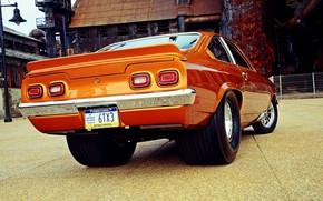 Picture Chevrolet, Orange, Race, Ass, Vega, Vehicle