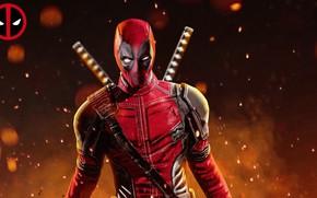 Picture hero, costume, Ryan Reynolds, Deadpool, Marvel, Deadpool