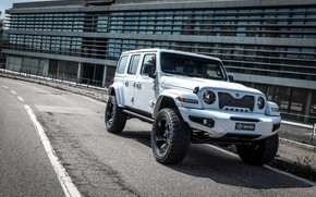 Picture asphalt, Wrangler, Jeep, Unlimited, 2019, Militem, Ferōx