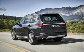 Picture BMW, back, side, 2018, crossover, SUV, 2019, BMW X7, X7, G07