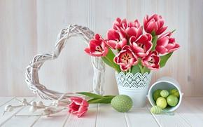 Picture holiday, Easter, tulips, Anya Ivanova