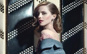 Picture look, girl, light, pose, photo, background, shadow, actress, beautiful, Emma Watson
