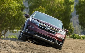 Picture Honda, front view, SUV, Pilot, Elite, 2019