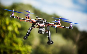 Picture camera, flight, bokeh, drone, hexacopter