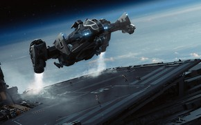 Picture spaceship, Science Fiction, star citizen