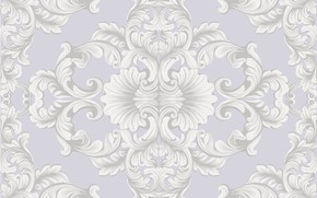 Picture white, retro, Wallpaper, pattern, texture, grey background, vintage, flower, vintage