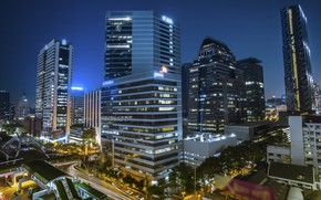 Picture the city, building, Thailand, Bangkok, flats