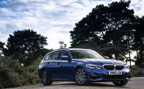 Picture blue, BMW, 3-series, universal, 320d, 3P, 2020, UK version, G21, xDrive Touring