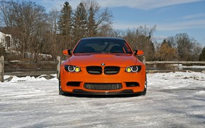 Picture BMW, Orange, Front, E92, Sight