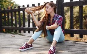 Picture model, pretty, jeans, pose, Kirill Averyanov