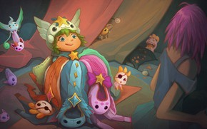 Picture clothing, Lux, League Of Legends, Lulu, Star Guardians, animals