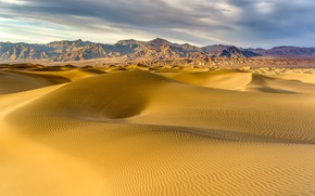 Picture sand, mountains, desert, dunes