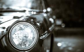 Picture machine, background, headlight