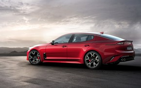 Picture the sky, red, KIA, Kia, the five-door, Stinger, Stinger GT, fastback, KIΛ