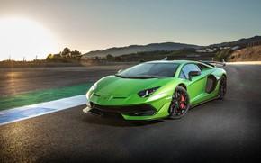 Wallpaper sunset, Lamborghini, supercar, 2018, Aventador, SVJ, Aventador SVJ