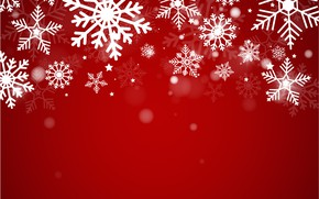 Picture winter, snow, snowflakes, red, background, red, Christmas, winter, background, snow, snowflakes