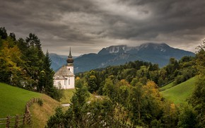 Picture mountains, Germany, Bayern, Church of Maria Gern