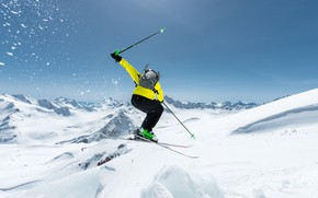 Picture photo, Winter, Snow, Sport, Jump, Skiing