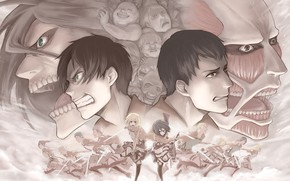 Picture attack of the titans, Shingeki no Kyojin, the invasion of the titans