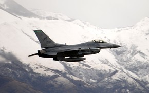 Picture UNITED STATES AIR FORCE, General Dynamics F-16 Fighting Falcon, light fighter of the fourth generation, …
