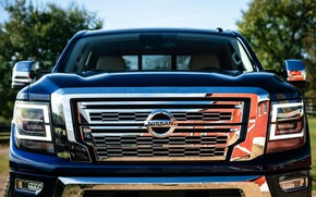 Picture the hood, before, Nissan, pickup, Titan, 2020, Titan XD SL