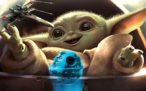 Picture Star Wars, Style, Eyes, Fantasy, Art, Art, Fiction, Baby, Jedi, Illustration, Character, X-Wing, The Death …