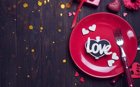 Picture love, holiday, plate, plug, heart