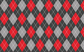 Picture line, red, grey, background, texture, red, grey, diamonds