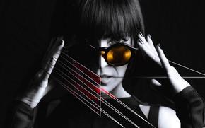 Picture techno, lady, composition, creatif