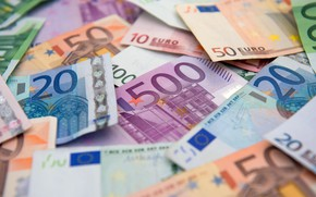 Picture blur, Euro, currency, bills, euro, currency