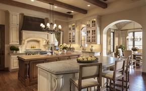 Picture design, comfort, interior, kitchen, dining room
