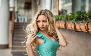 Picture Girl, dress, blonde, curls, A Diakov George