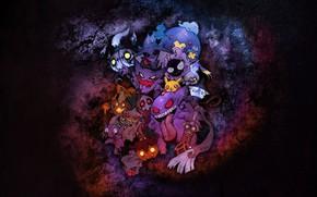 Picture Ghost, Pikachu, ghosts, ghost, pokemon, pokemon, Pikachu, Gengar, Haunter, Gengar, Gastly, Gastly, Hunter, Chandeleur, Misdreavus, …