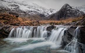 Picture autumn, mountains, stones, waterfalls