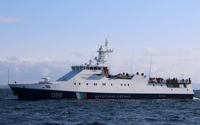Picture sea, test, coral, patrol ship, pskr
